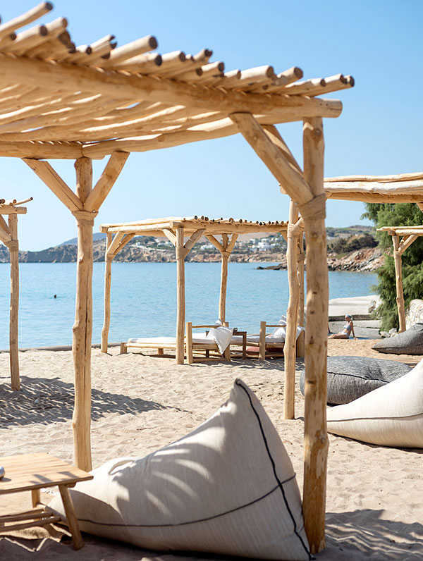 Aspro Paros on Ambelas beach